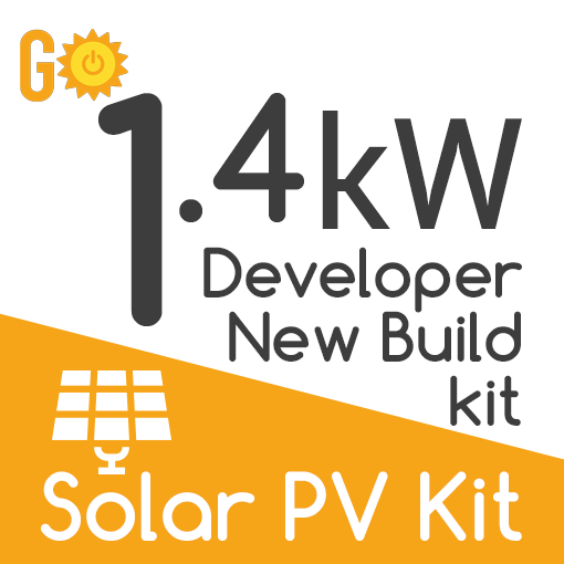 1.4kW Developer New Build Solar PV Kit