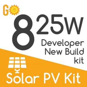825W Developers New Build Solar PV kit